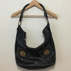 Barbara Milano Black Leather Purse